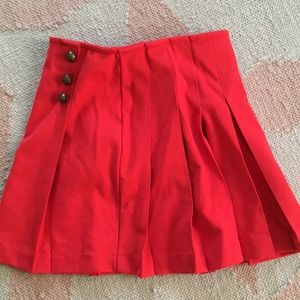Lands' End Bottoms - Pleated Red Skirt